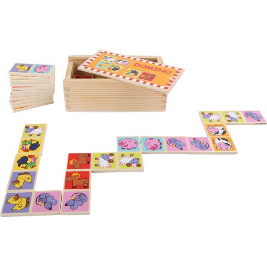 Domino spellen dierentuin dieren