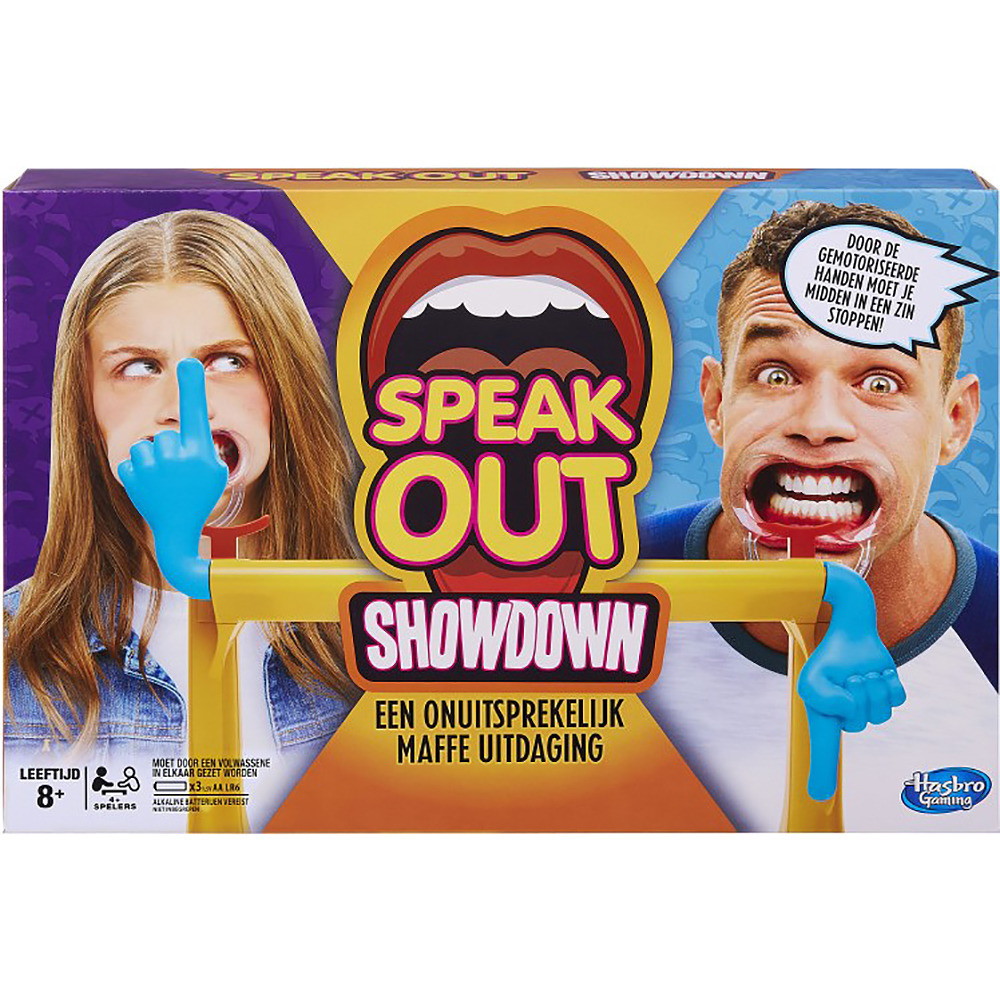 Spel speak out showdown met mouthguard mondstukken