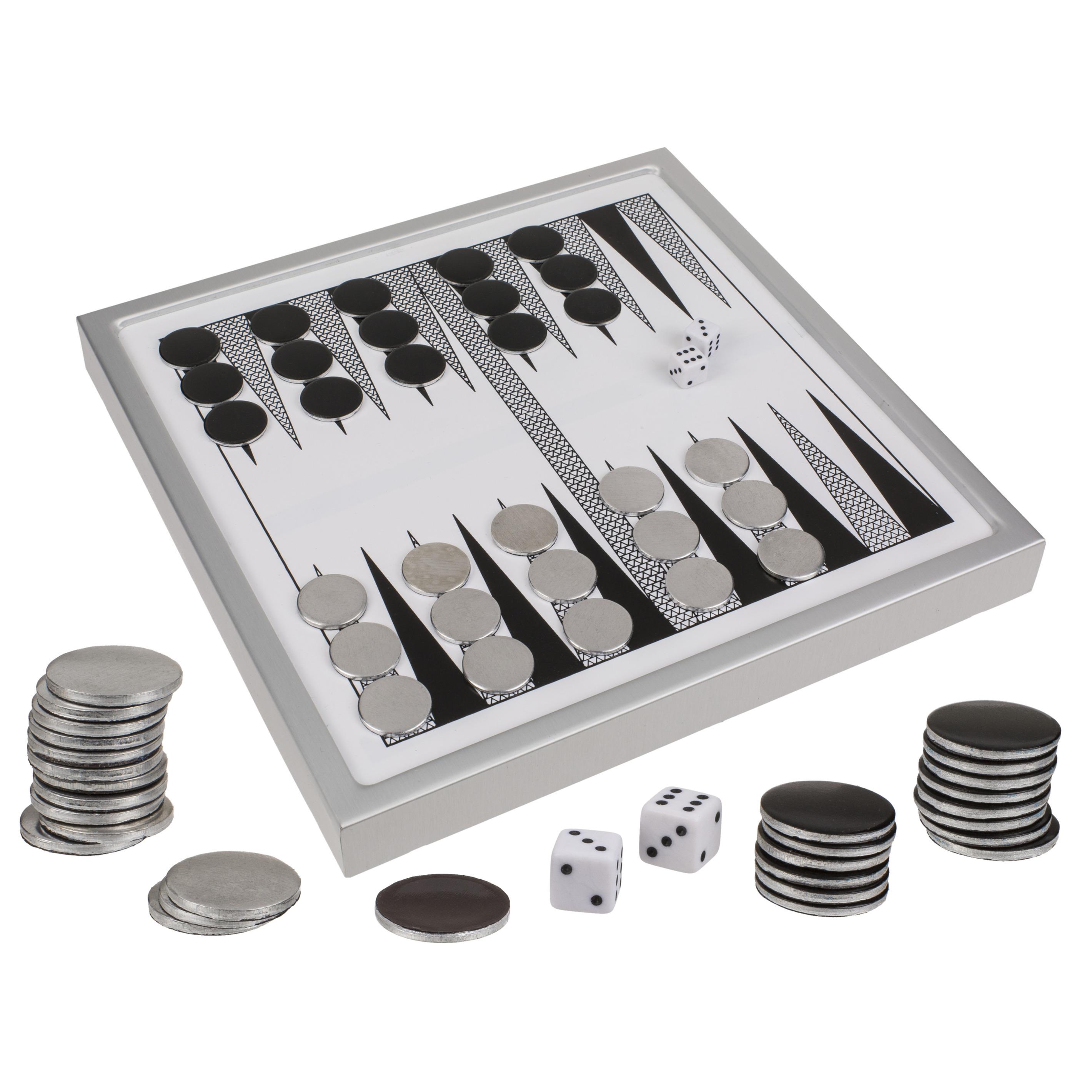Luxe backgammon familie spel 24 x 24 cm